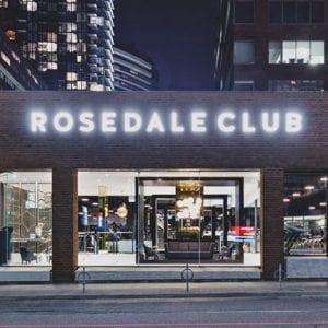 evening view of rosedale club gym exterior