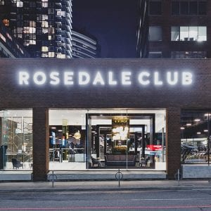 exterior of rosedal club gym in toronto on