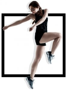 woman dancing in fitness apparel